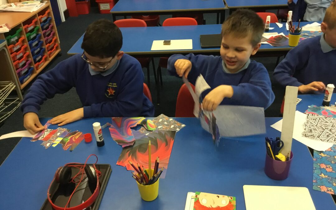 Year 3 – Angel of the North Collages