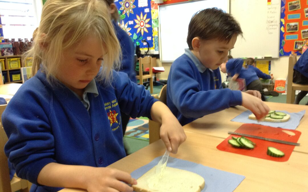 Afternoon Tea – making sandwiches